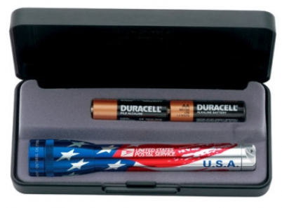 American Flag M2A Mini Maglite Flashlight
