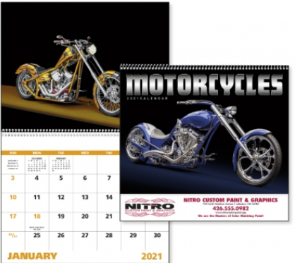 Motorcycle Promotional Calendar