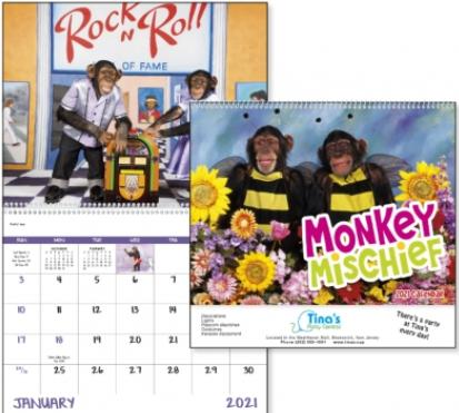 Monkey Mischief promotional calendar